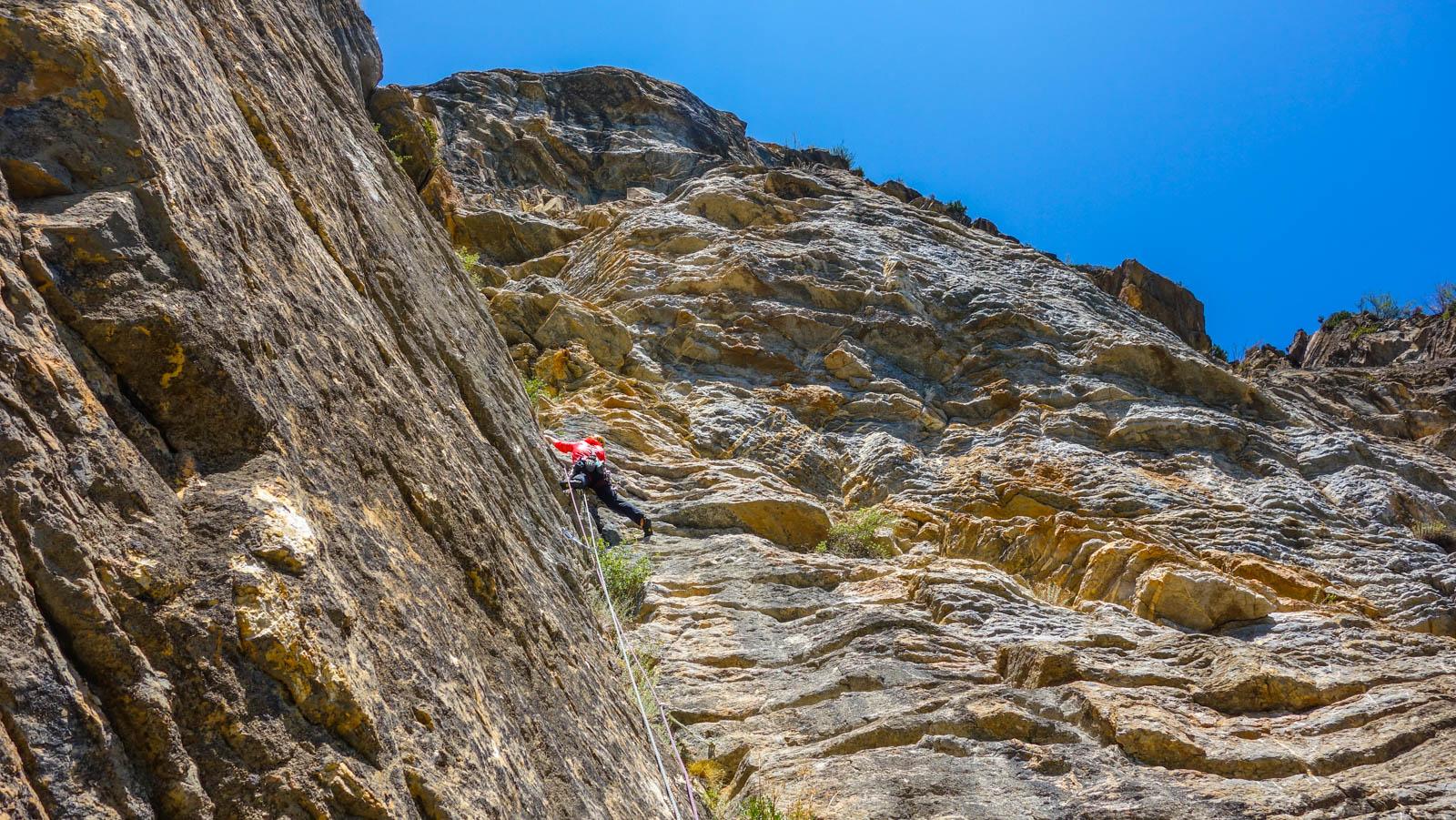 Escalada en roca: Diedro de Escarrilla o Diedro Sajuma