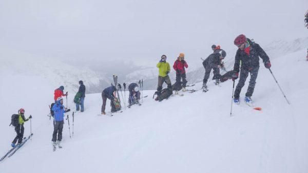 curso de esquí de montaña