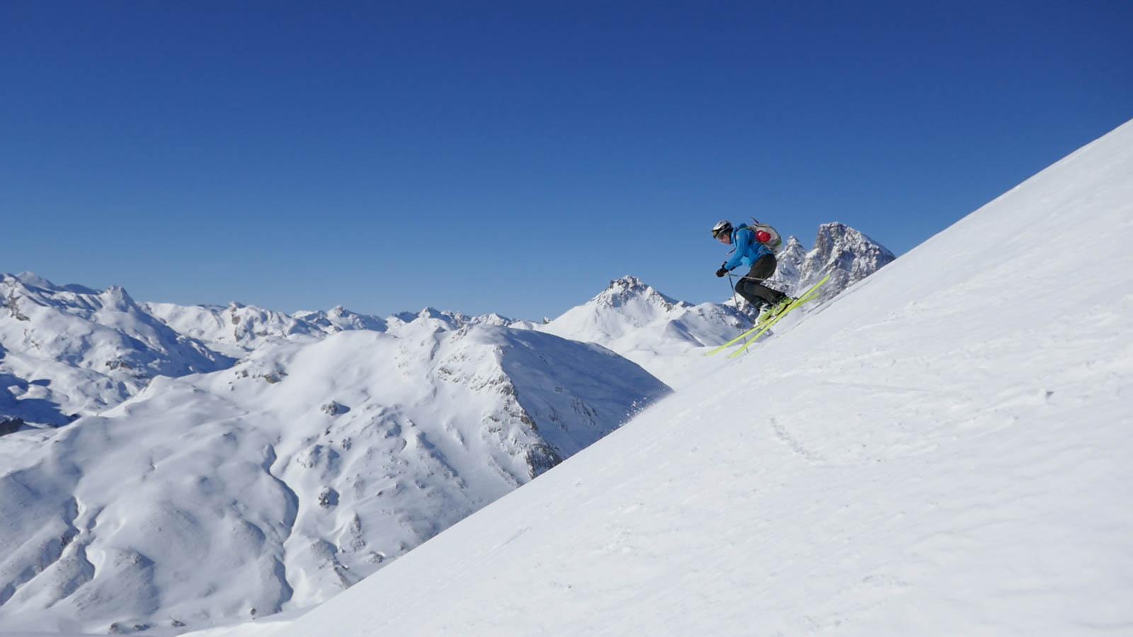 Nieve muy dura en el Pirineo