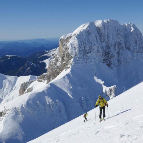 Pico de Aspe con esquí de travesía