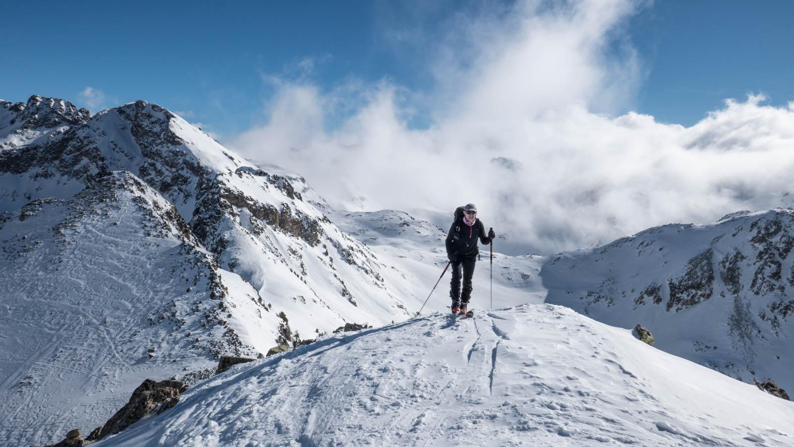 Foratulas con esquí de montaña (Balneario de Panticosa)