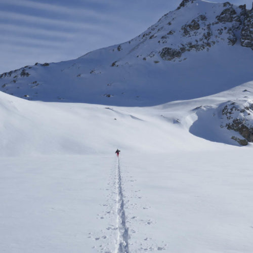Pico Baciás con esquí de montaña