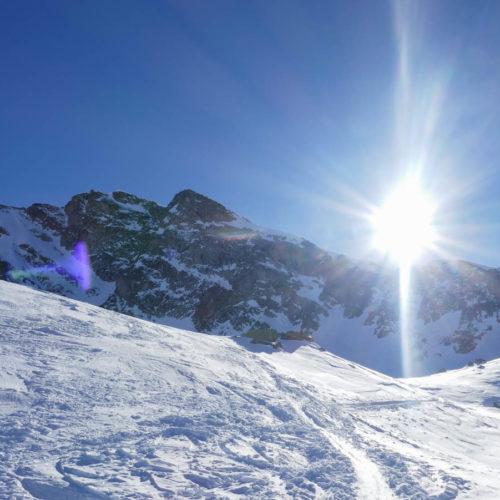Esquí de montaña. Balneario de Panticosa. Tablatos