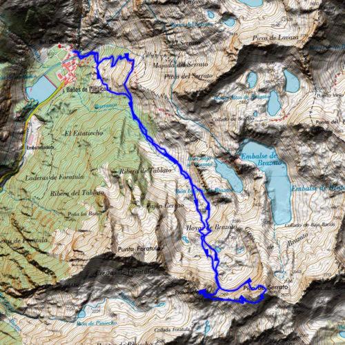 mapa ascensión tablato y serrato