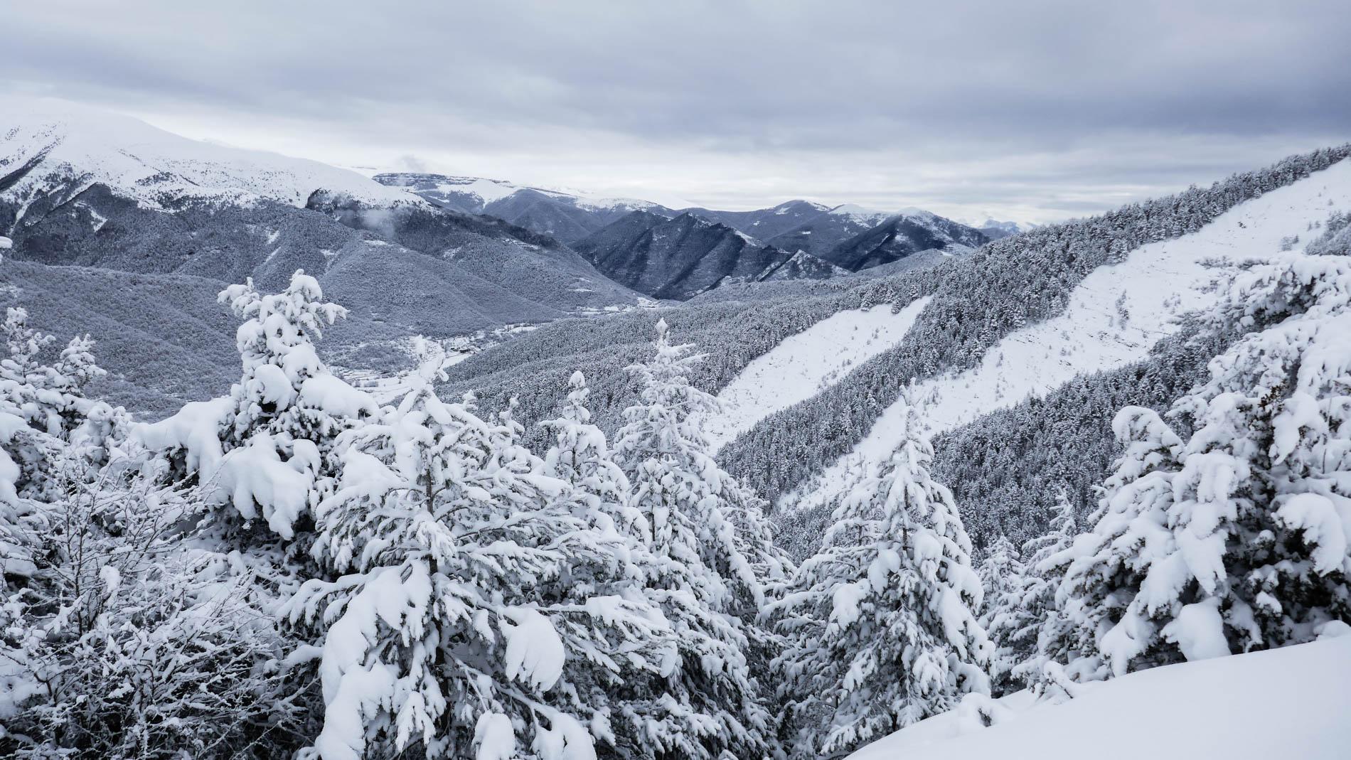Pelopín desde Cotefablo con esquís de montaña