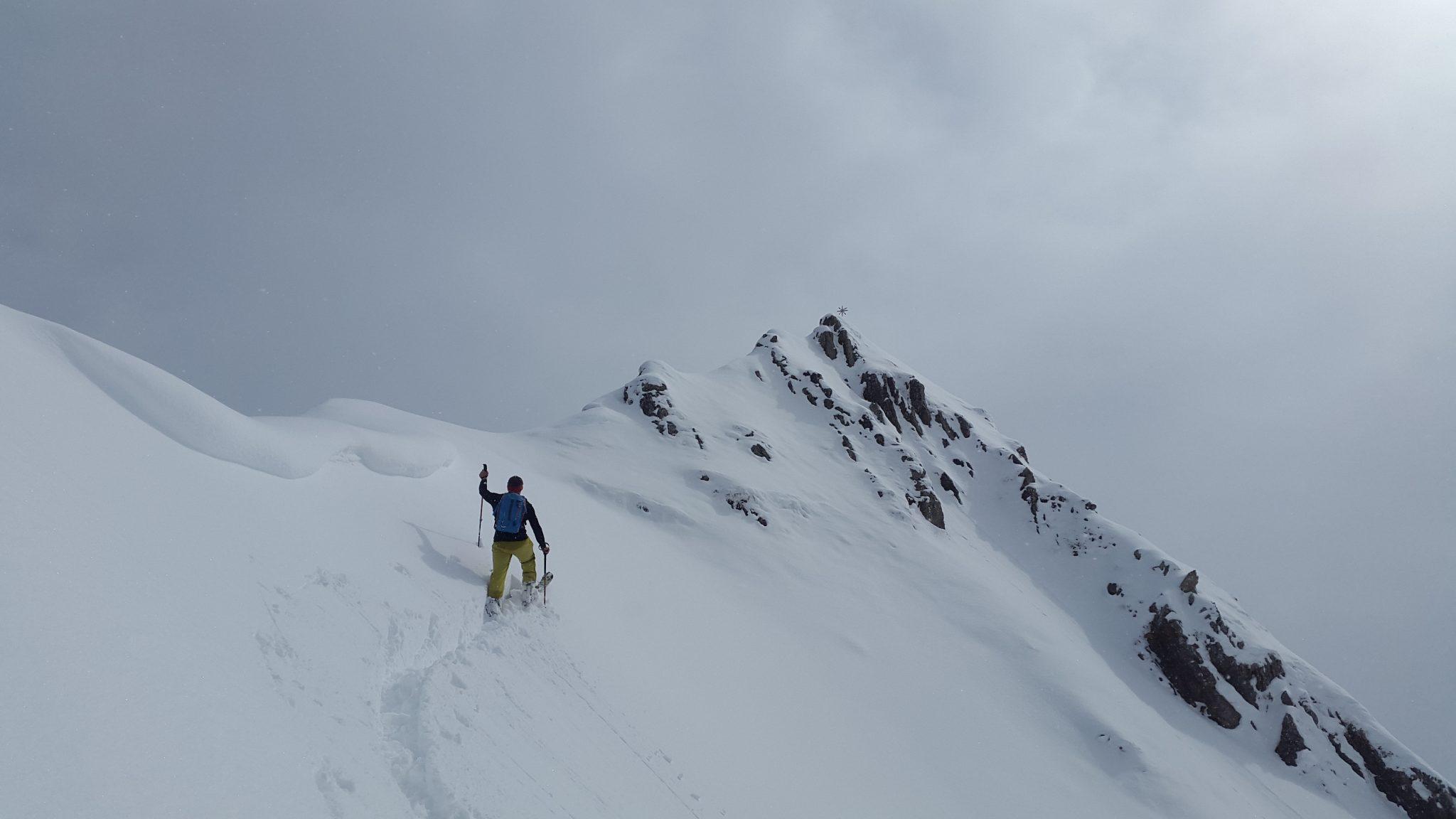 Esquí de montaña. Progresión sin focas